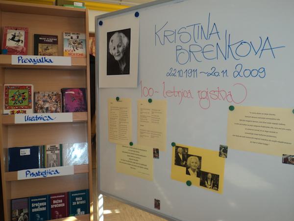 Razstava ob 100-letnici rojstva Kristine Brenkove